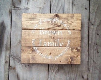 Family name sign, Reclaimed wood sign, Personalized wood sign, Rustic wood sign, Wood signs sayings