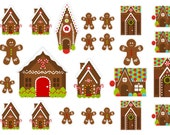 Gingerbread Hosue Stickers  (planner stickers)