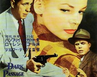 Dark Passage Movie POSTER (1947) Thriller/Drama