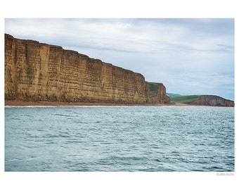 Landscape Photography PRINT, The Cliffs at West Bay - 4, Wall Art
