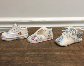 Porcelain Keepsake Baby Shoe