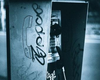 pay phone photograph wall decor wall art photography