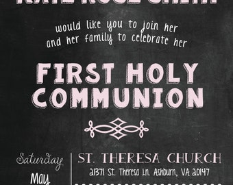 Custom Communion Invitations