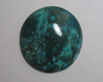 Chrysocolla cabochon round shape loose semi precious gemstone cabochon size 40 x 40 mm code 342