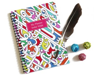 Islamic calligraphy Notebook, A5 Planner, Journal