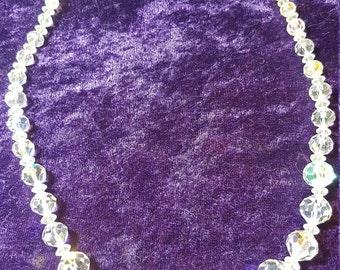 ON SALE Aurora Borealis Necklace