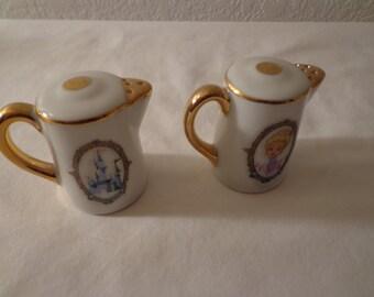 Vintage Walt Disney Teapot Salt and Pepper Shakers