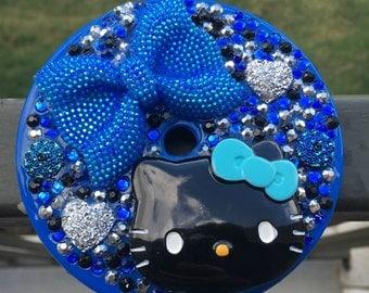 Kawaii Themed Blue Bling Kids Tumbler Cup