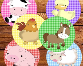FARM CUPCAKE TOPPERS, Farm birthday, Farm Party, Farm Invitations