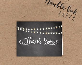 Backboard Folded Note • Garden Lights - 5.5x4.25