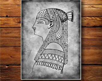 Isis Print, Egyptian decor, Ancient Poster,Sphinx Art  BW515