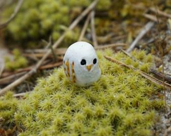 micro owl, miniature owl, miniature owl figurine, clay owl, owl figurine, collectable, dollhouse miniature, handmade, cute, unique,gift idea