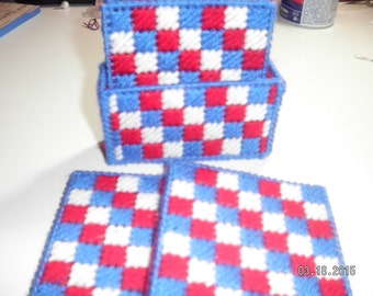 Patriotic Patchwork Coasters