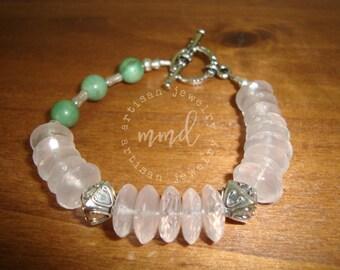 Rose Quartz and Turquoise Bracelet
