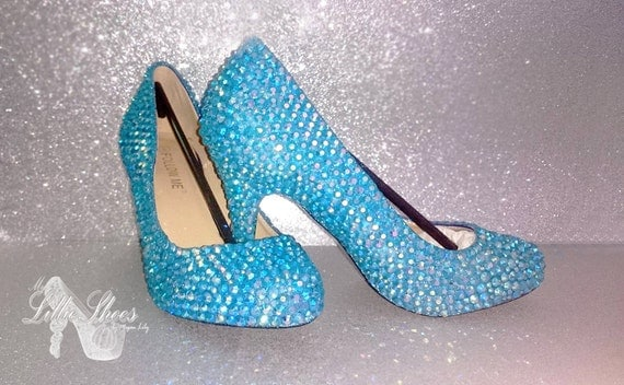 Turquoise Wedding Heels: Bridal Shoes Turquoise Blue Low Mid Heels By MyLillieShoes