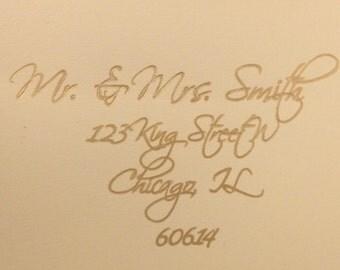 Custom addressed envelopes, wedding invitation envelopes, envelopes included