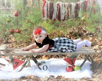 Photography back drop, Burlap Banner, Photography prop banner, Christmas banner, Christmas decor, Photo props, Newborn photography props