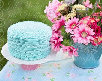 DIGITAL Fine Art Photography, photo, jpg file, instant download, Birthday Cake