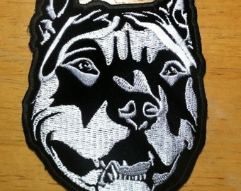 Pit Bull embroidered patch