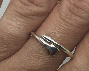 silver arrow ring,silver ring,arrow ring,arrow jewelry,adjustable ring,boho ring,bohemian ring,boho chic ring,