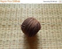 15% OFF Brown Crochet Yarn, Mercerized Cotton Yarn, Knitting Yarn, Embroidery Yarn, Cotton Crochet Yarn - 120 Yards