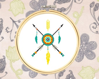 Tribal Arrows Cross Stitch