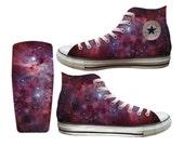 Galaxy Purple Nebula Custom Printed Converse All Stars and Vans
