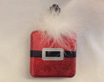 Santa Glitter Ornament