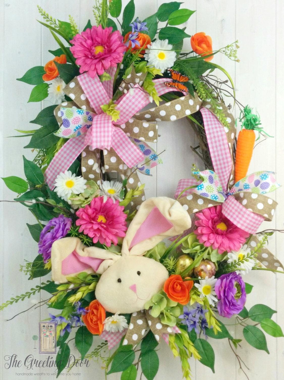 Easter Wreath Spring Wreath Front Door Wreath By
