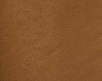 """Tan Luxor Soft suede 60"""" Fabric  by the yard"""