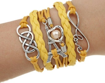 Yellow Eiffel Tower Bracelet