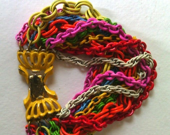 Vintage Multi-colored chain bracelet