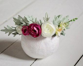 Florence Floral Crown - Newborn Crown