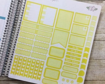 Yellow Vertical Life Planner Shaded Theme - Full Page ~ 3244F ~