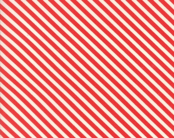 1/2 yd Handmade Candy Stripe by Bonnie & Camille for Moda Fabrics 55145 11 Red