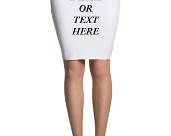 All Over Printed Sublimation Pencil Skirt MADE IN USA!