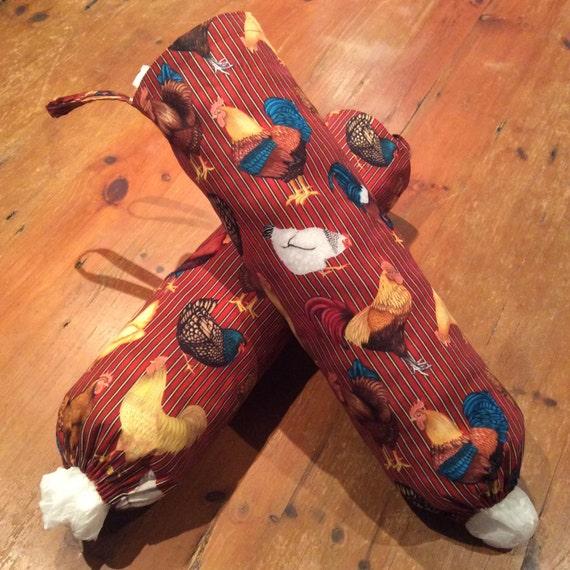 Folk Chicken Plastic Bag Dispenser, Holders, Quality Hand Made, 50cm x 40cm