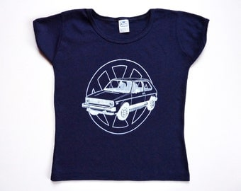 Vintage 70's Tee-Shirt Volkswagen Rabbit Golf 1 Dark Blue