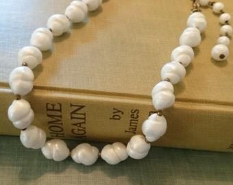 Trifari Baroque Pearl Choker Necklace/ 1950s