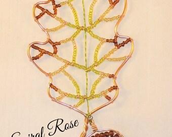 22. Oak leaf / acorn suncatcher / window hanger