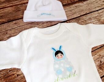 Newborn Outfit, Baby Clothes, Baby Bodysuit, Boy babushka matryoshka design