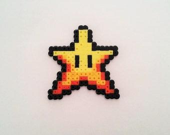 Super Mario Star pixel art beading beads