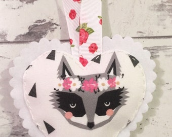 Racoon Hanging Heart - Hanging Heart Decoration