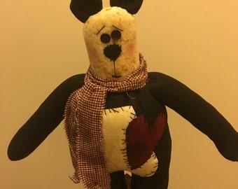 Pirmitive Felt Panda Bear