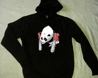PANDA hoodie panda sweatshirt panda hoodd sweat black gray MEN'S WOMEN'S
