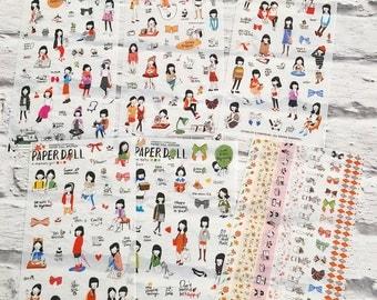 Korean Paper Doll Kawaii stickers