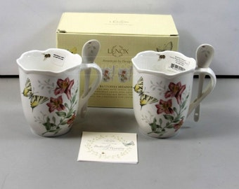 Lenox Butterfly Meadows Set of 2 Mugs