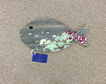 Reclaimed Wood Fish Home Decor