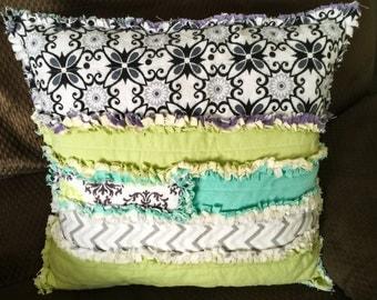 Throw Pillow ! Dual sided Rag Throw Pillow