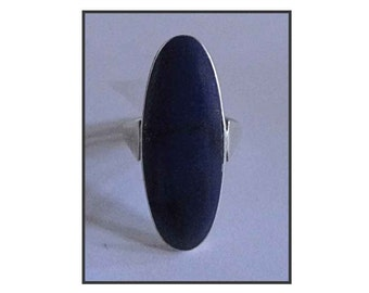 VINTAGE SILVER & LAPIS Ring joint silver and Lapis Lazuli.